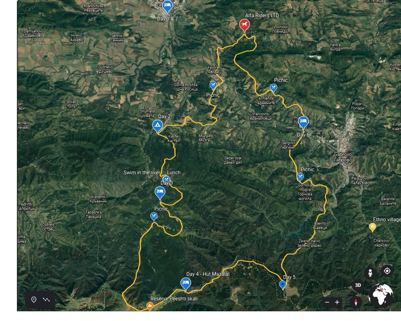 Map - Balkan Mountain